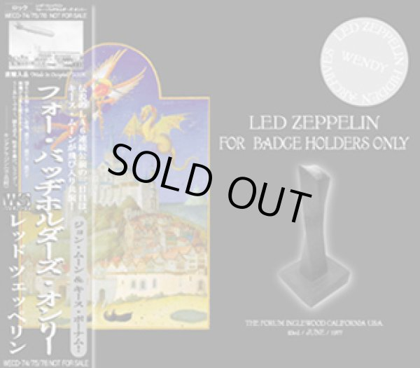 画像1: LED ZEPPELIN-FOR BADGE HOLDERS ONLY 【3CD】 (1)